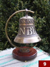 A bell with the NBP logo made for the NBP quarters in Stara Wies (16cm x 16,5cm)